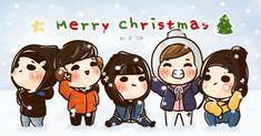 [fanart] #BIGBANG Merry Christmas ❄️⛄️