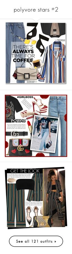 """""""polyvore stars #2"""" by alexa-anita2010 ❤ liked on Polyvore featuring By Malene Birger, casual, denim, stripe, blazer, CoffeeDate, Gucci, Vetements, Givenchy and Chantecaille"""