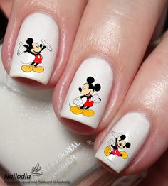 Mickey Mouse Disney Nail Art Sticker Water Transfer by Nailodia