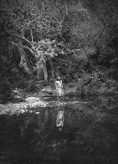 """The Pool - Apache"" - Photo by Edward S. Curtis - 1906 - (B/w copy)"