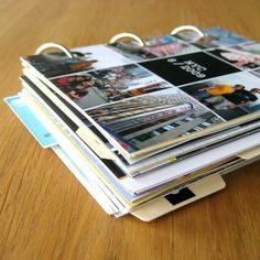 great way to document a trip - print 4x6 photos and add paper and ring binders.