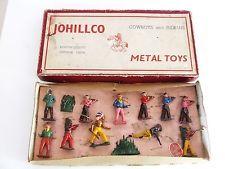 VINTAGE JOHILLCO BOXED LEAD COWBOYS & INDIANS