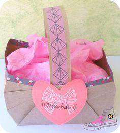 cesta de papel craft