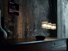 Luminária pendente de vidro CHARLOTTE S3L by de Majo Illuminazione | design Luca Ferretto