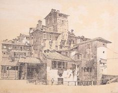 Slums in Milan by Luigi Premazzi  Utterly gorgeous rendering from the mid 18thC