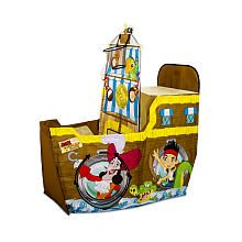 This looks fun but I don't know where you'd put it Playhut - Jake and the Neverland Pirates - Jake's Coconut Shooter Boat Play Tent