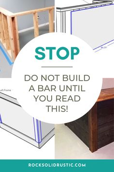Do build a bar until you read this! Building a bar isn't that hard, but there are some things you should know before taking on this project. Detailed instructions to build full-sized bar, with bar plans and cut list to simpilify your project. This isn't your average basement bar! #howtobuildabar #barideas #basementbar #woodworking #woodworkingplans #diyplans #diywoodprojects #basementremodel #homeimprovement