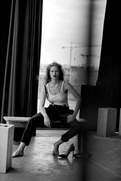 Photography Poses : Anna Ewers by Peter Lindbergh for Vogue Germany March 2015 Peter Lindbergh, Editorial Photography, Portrait Photography, Fashion Photography, Glamour Photography, Lifestyle Photography, Photography Ideas, Xagon Man, Anna Ewers