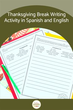 Are you looking for Thanksgiving activities for your Spanish classes? Your Spanish classroom will love these writing activities for before or after break! Perfect for middle school and high school students to share about their plans! Use them as stations or as separate activities to celebrate Día de Acción de Gracias in your Spanish class! #spanishclass #secondaryspanish