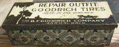 icollect247.com Online Vintage Antiques and Collectables - B F Goodrich Tire Repair Outfit Tin 1920s-30s