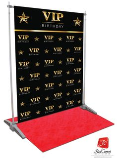 VIP Birthday Backdrop - Black - Red Carpet Runner & Red Carpet Background Event ShopBirthday backdrop VIP red carpetRealistic illustration of red carpet and golden barriers. Hollywood Birthday Parties, Basketball Birthday Parties, 18th Birthday Party, Hollywood Party, Birthday Basket, Birthday Games, Birthday Ideas, Red Carpet Background, Red Carpet Backdrop