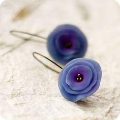 Night Flowers earrings by BeautySpotCrafts.deviantart.com on @deviantART