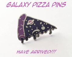 IN STOCK Galaxy Pizza Pin by EmeraldSora on Etsy