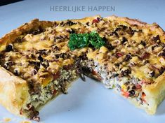 paprika gehakt quiche Quiches, Food And Drink, Breakfast, Frittata, Wraps, Healthy Recipes, Red Peppers, Health Recipes, Healthy Food Recipes