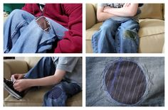 Patching holes in jeans - tutorial