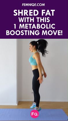 The Metabolism Booster: 8 Minute Total Body Workout: exnt to rev up your metabolism and reduce body fat faster? Turn your body into a fat-burning furnace with this metabolic conditioning routine. Trade your time on the treadmill for much better fat burn! Fitness Workouts, Hiit Workout At Home, Workout Videos, Fitness Tips, Workout Plans, Workout Body, Leg Workouts, Exercise Videos, Fitness Plan