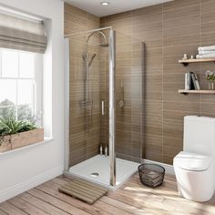 Thinking of fitting a new quadrant shower enclosure? We look at 5 great benefits that a quadrant shower enclosure can bring. Square Shower Enclosures, Quadrant Shower Enclosures, Pivot Doors, Sliding Doors, Stone Shower, Chrome Handles, Shower Systems, Single Doors, Bathroom Ideas