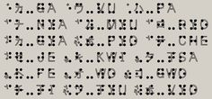 The Japanese braille: A consonant sign plus syrrabic characters -- TenjiS158 font created by Kasai Hakuh.
