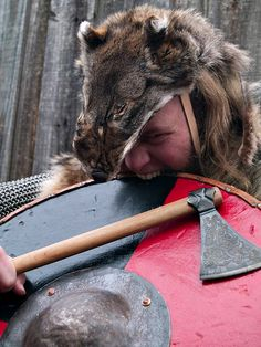 Berzerker was the most feared Viking warriers. They have eaten mushrooms that made them think that nobody could take them. Sometimes they went to war naked, only with a sward and a knife.