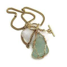 $155.00 --> VAN DER MUFFIN'S JEWELS --> Aqua Green Sea Glass Necklace --> One-Of-A-Kind Fine Jewelry Designs By Courtney Andrea Fox --> https://www.vandermuffinsjewels.com/products/rare-sea-glass-necklace-aqua-green-genuine-beach-glass-jewelry-beach-glass-gift-for-women-by-van-der-muffins-jewels-18-length?utm_campaign=outfy_sm_1506602662_590&utm_medium=socialmedia_post&utm_source=pinterest   #amazonprime #seaglassjewelry #jewelrygifts #lipulse #amazonhandmade #hamptonsseaglass…