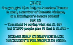 ONE~ Donation to Deshalamar CDC 501 c 3 Programs ~ you might be saying what can 1$ do? but if 1000 people give 1$ that is 1000$