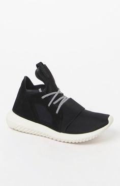 Women's Black Tubular Defiant Sneakers