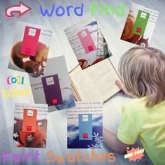 Sight Word Find using Paint Swatches from your neighborhood home improvement store by A Thinkers Toolbox. #teacheronabudget Early Elementary Resources, Common Core Reading, Kindergarten Literacy, Reading Skills, Teaching Tips, Sight Words, Toolbox, Teacher Resources, Budgeting