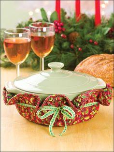 Sewing - Christmas Patterns - Kitchen Patterns - Christmas Casserole Caddies