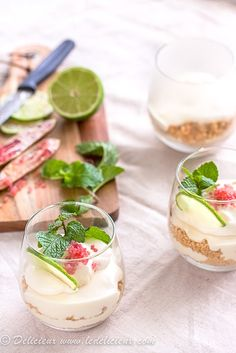 White Chocolate Mojito Cheesecake Parfaits with Finger Lime Caviar from ledelicieux.com #Champagne #caviar [www.larrylottinteriors.com]