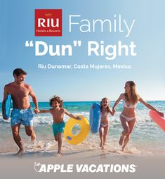 "I just entered in the Family ""Dun"" Right Sweepstakes! Enter and you could win a trip for 4 to the RIU Dunamar Resort Cancun! Check it out now. Sweepstakes ends 2/17/18."