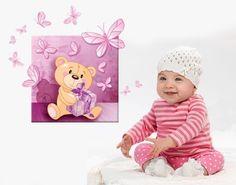 Er ist der beste Freund unserer Kids: Der Teddybär! #Leinwand #Wandtattoo #Kinderzimmer