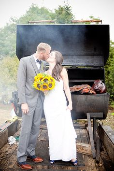 Carl's Addition to the Wedding: Pig Roast.     All I can say, it got him off of Camo. (: