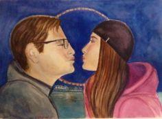 "Saatchi Art Artist Mar Ruiz Bilbao Art; Painting, ""Together by London Eye"" #art"