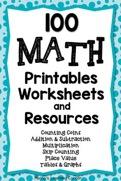 Find over 100 math printables, worksheets, and resources for your young learner from Mamas Learning Corner! Printable Math Worksheets, Kindergarten Math Worksheets, Math Resources, Teaching Math, Math Activities, Classroom Resources, Teaching Geography, Teaching Technology, Teaching Ideas