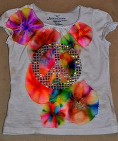 Beautiful colors on a cotton shirt with Sharpies and alcohol!