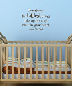 Belvedere Designs Chocolate 'Littlest Things' Wall Quote