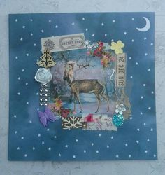 Lady deer  Christmas card FREE P&P by CartaFiaba on Etsy