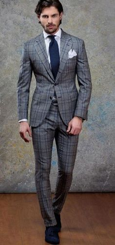 40 Best Tailored Checkered Suits for Men - Top-Trends Cool Outfits For Men, Stylish Mens Outfits, Checkered Suit, Classy Suits, Style Masculin, Business Outfit, Business Suits Men, Herren Outfit, Mens Fashion Suits