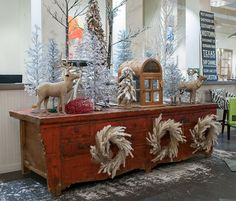 Winter wonderland display at Mecox Houston #interiordesign #home #decor #design