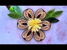 It's a Gorgeous Blooming Quilling flower bud. It's Just beautiful, can be used in Quilling greeting cards, Photo Frame and in other craft decoration. Quilling Videos, Quilling Paper Craft, Quilling Techniques, Quilling 3d, Quilling Designs, Paper Crafts, Quilling Instructions, Paper Quilling Tutorial, Free Quilling Patterns
