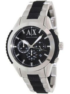 63e3b90d321 Armani Exchange Chronograph Black Dial AX1214 Men s Watch Stainless Steel  Case