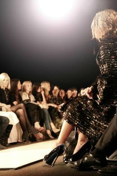 amazing lighting and dresses and color at runway show.....indeed