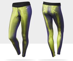 """""""The new Nike Women's Exclusive Print tight is a performance based pant for the athlete unafraid to make a statement. On the outside, she might be the girl next door, but on the inside, her body has survived grueling workouts, often pushing through pain, broken bones, pulled muscles and harsh tears."""
