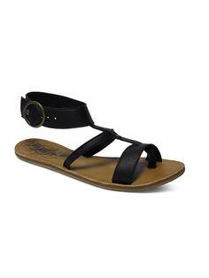 San Sebastian - Roxy Sandalen für Frauen  Die San Sebastian sind Teil der Roxy Spring/Summer Footwear Collection 2015. Diese Sandalen für Frauen zeichnen sich durch Obermaterial aus mehreren Volllederstreifen, ein Nietendetail und einen großer Schnallenverschluss aus. Weitere besondere Features sind: Brandsohle aus Leder und Obermaterial aus 95,5% Leder/4,5% Metall, Außensohle: 100% TPR.  Me...