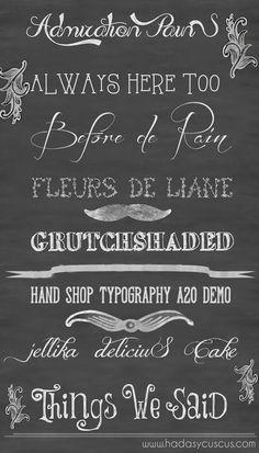 Mi lista de 8 fuentes o tipografías vintage para descargar.                                                                                                                                                                                 Mais