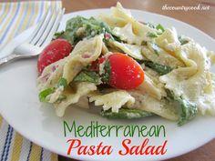 The Country Cook: Creamy Mediterranean Pasta Salad & A Virtual Summer BBQ