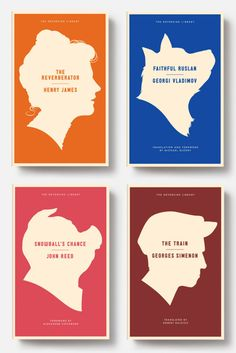minimal and effective silhouettes create a literary feel for this series. Best Book Covers, Beautiful Book Covers, Book Cover Design, Book Design, Composition, Book Jacket, Cool Books, Book Layout, Book Making