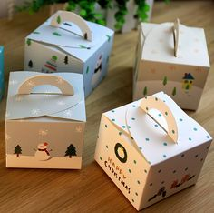 Portable Christmas Eve Apple Gift Boxes Decorated Christmas Gift Lovely Box TSC #Unbranded #ChristmasGiftBox