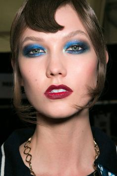 Beauty trend to try this fall: blue eye makeup. Do you dare? See all the best blue-eyed looks here.