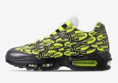 5ab5c3ead6 Left view of Men's Nike Air Max 95 Premium Casual Shoes in Black/Volt/Ash  White. The Latest Sneakers